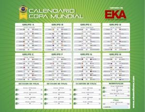 calendario copa mundial eka