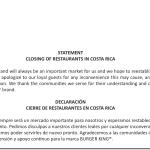 Casa matriz de BURGER KING no descarta volver a Costa Rica