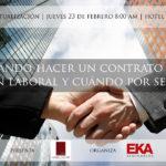 ¿Cuándo hacer un contrato por relación laboral y cuándo por servicios servicios profesionales?