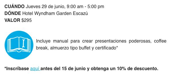 Workshop to create powerful presentations and negotiation - EKA 2