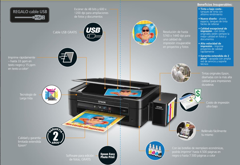 Promoción EKA Multifuncional Epson L380 Copia Imprime Escanea ...