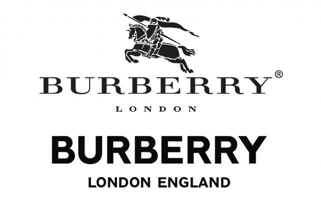 Arriba: logo viejo. Abajo: nuevo logo. Crédito: Burberry