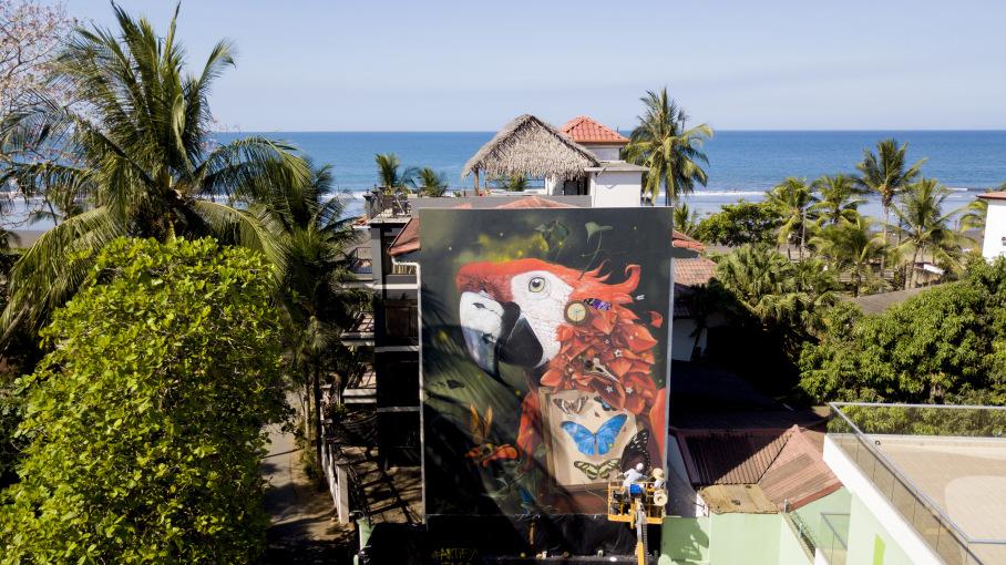 Más de 20 murales gigantes dan nueva cara a Jacó
