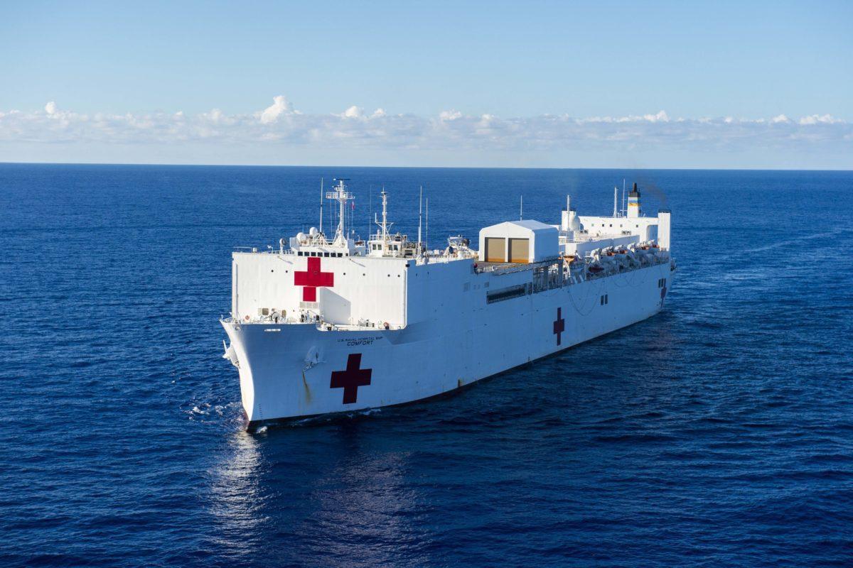 Buque hospital con 12 quirófanos llegará a Puntarenas
